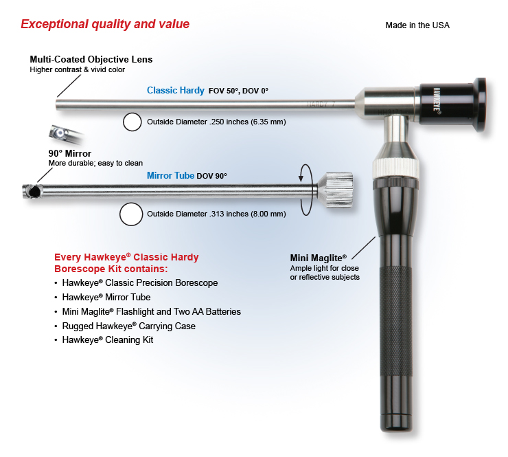 Optimax Hawkeye Classic Hardy Industrial Endoscope Borescope Overview
