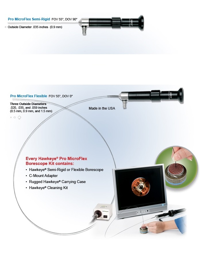 Optimax Pro Micro Flex Borescopes Semi-rigid and fully flexible models overview